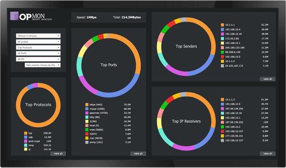 Screenshot OpMon Traffic Analyzer