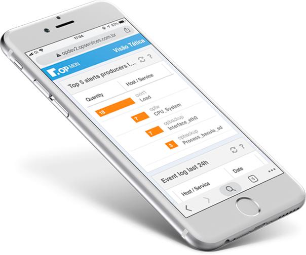 Gerenciamento de TI com visão mobile OpMon
