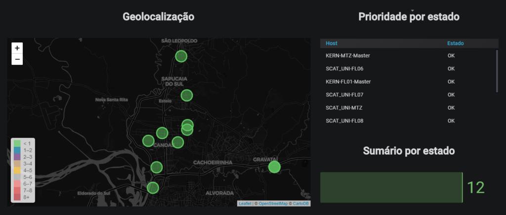 Dashboard de Monitoramento das lojas por Geolocalização